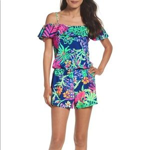 Lilly Pulitzer Klea Cold Shoulder Romper